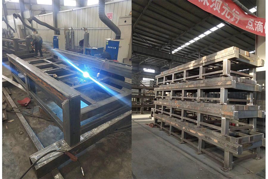 Welding the CNC machine structure