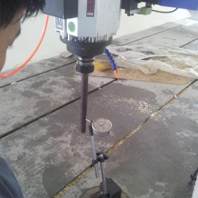 accuracy inspection of CNC machine