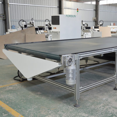 auto unloading table of nesting CNC router machine