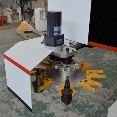 carousel tool magazine of CNC wood router machine
