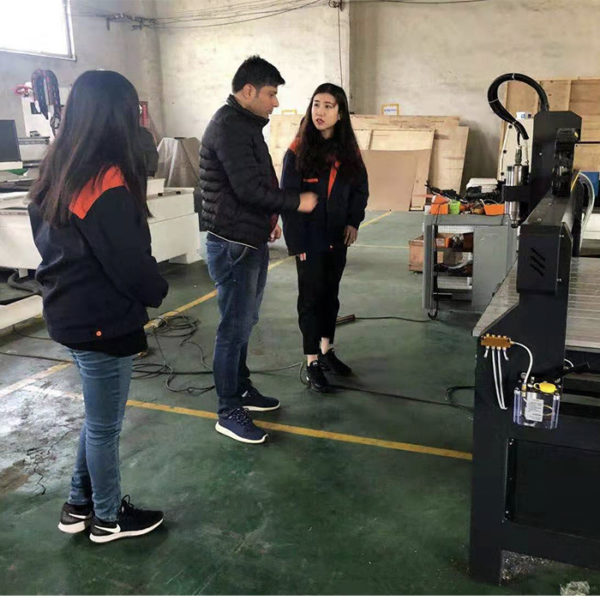 customer visit for CNC Wood Router