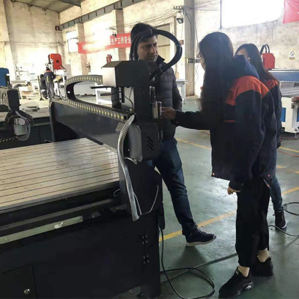 customer visit for Wood CNC Router