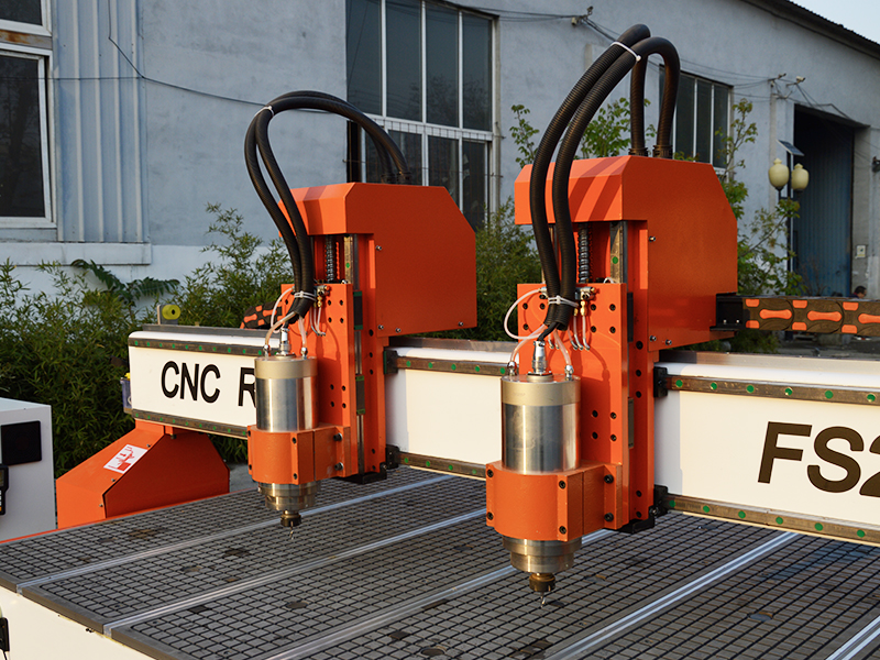 2 spindles for wood cnc router