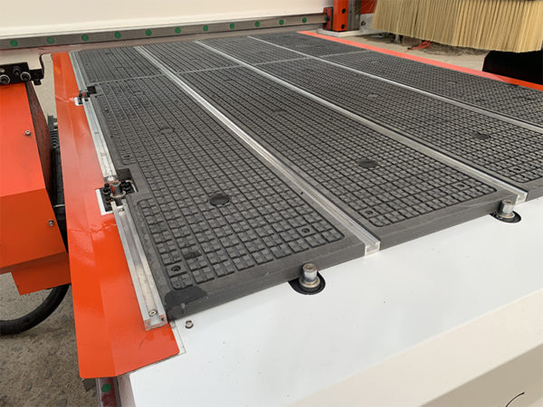 wood cnc router with Pop up pins for material location
