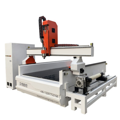 Wood CNC Router with Rotary Axis