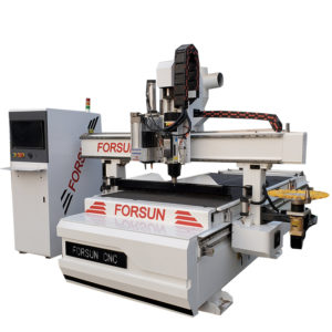 Auto Tool Changer CNC Router with Boring Head