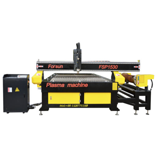 CNC metal cutting machine with rotary axis