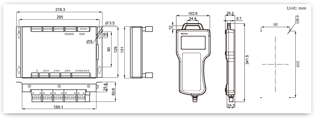 NK105_draw Mounting Dimension for CNC Router Machine