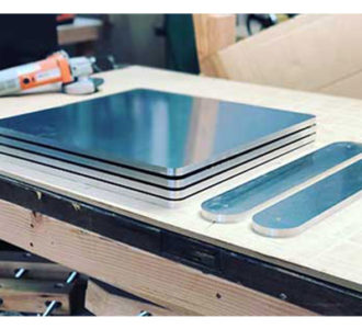 aluminum sheeting cutting by cnc cutting machine