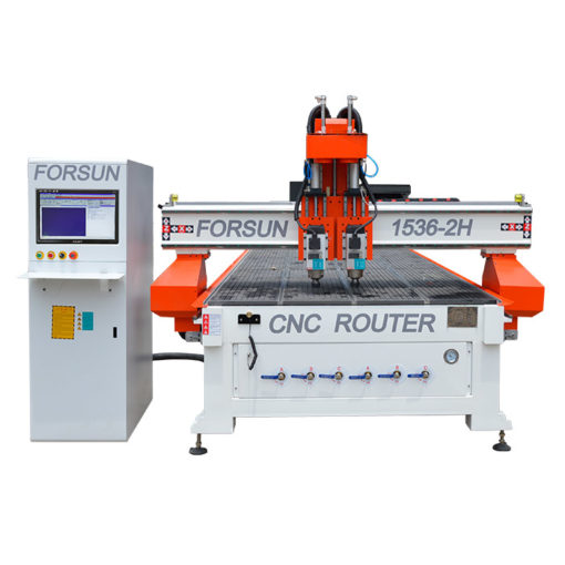 cnc wood router with 2 spindles