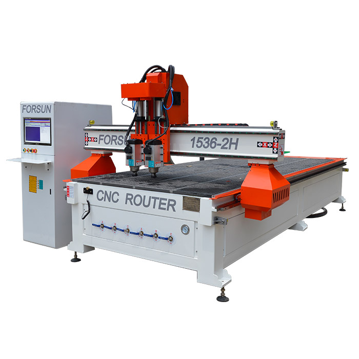 2 spindles cnc router