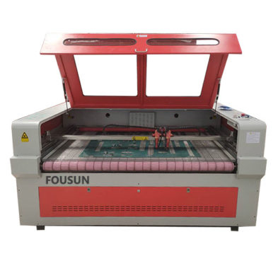 Auto-Feeding Double Heads Fabric Laser Cutting Machine