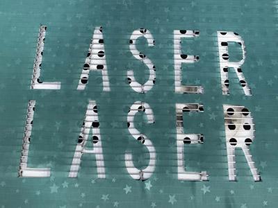 Cutting sample of CNC laser cutting machine