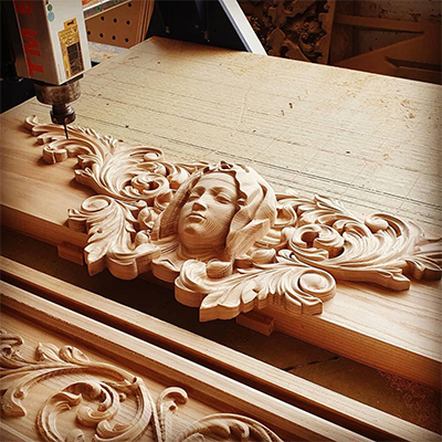 wood relief by wood cnc router