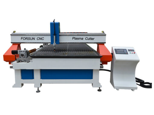 Plasma Cutting Machine with Rotary Axis for Round Metal Tube Cutting