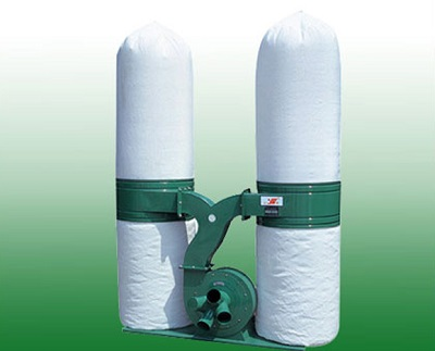 Dust collector with two bags