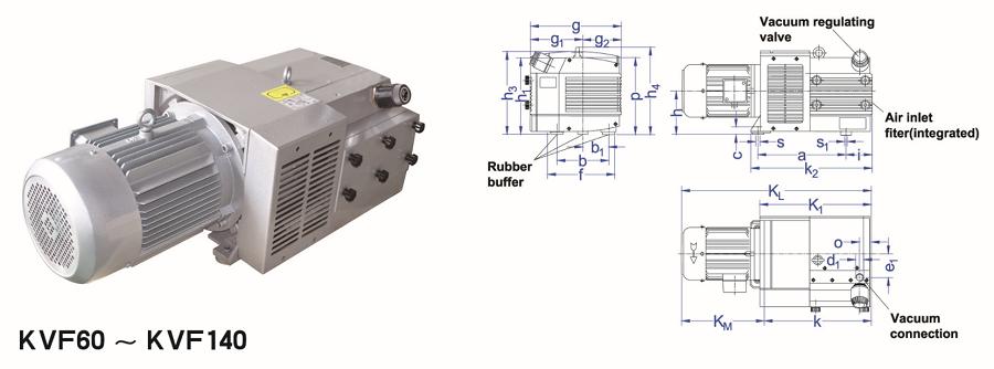 KVF 160 Oil less Vane vacuum pump