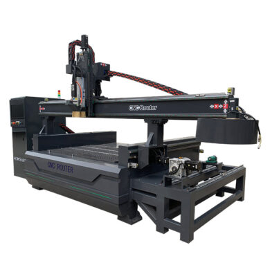 Automatic Tool Changer CNC Router with Rotary Axis