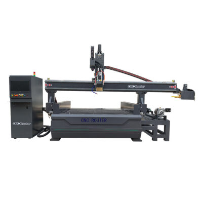 Disc Automatic Tool Changer CNC Router with Rotary Axis