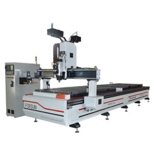 Double Work Table ATC CNC Router with C Axis and Aggregate