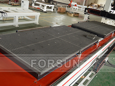 Double work table of smart custom cnc router machine