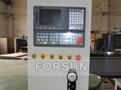 Syntec Controller of Double Work Table ATC CNC Router with C Axis and Aggregate