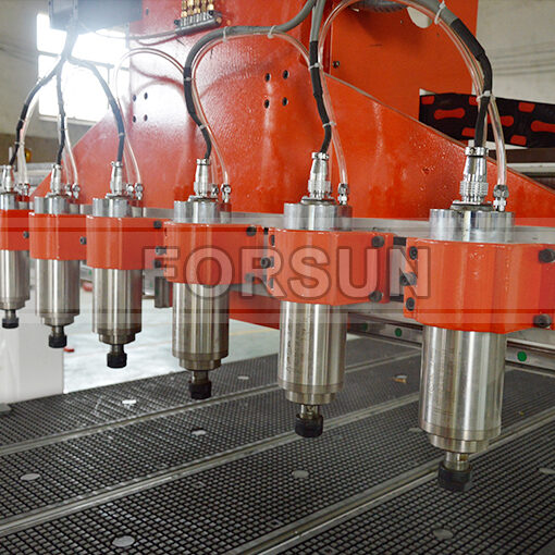 multi-spindles of custom cnc wood router machine