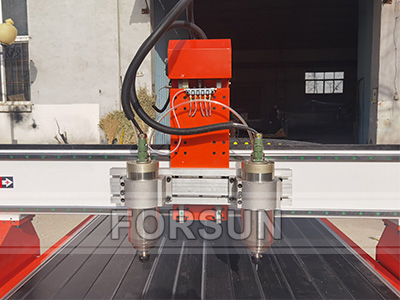 Double spindle of CNC Wood router machine