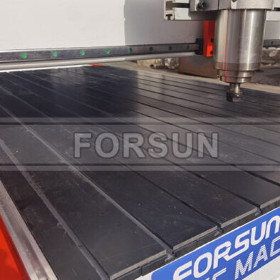 T-slot table of CNC wood router machine