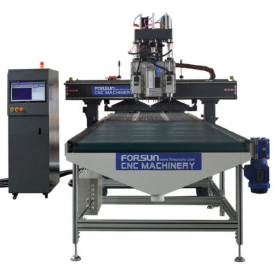 Automatic nesting CNC router machine with auto loading and unloading system