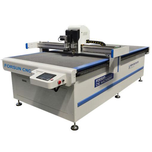 CNC Oscillating knife Creasing Wheel Cutting Machine for leather fabric