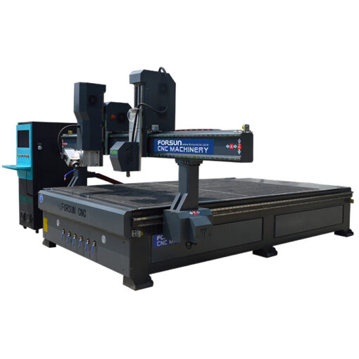 4 Axis CNC Router Machine with Oscillating Knife