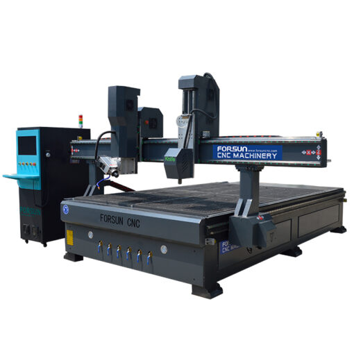 4 Axis CNC Router with Oscillating Knife
