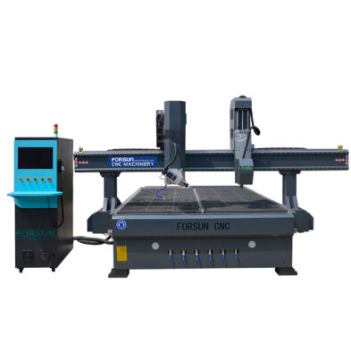 4 Axis Wood CNC Router with Oscillating Knife