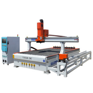 ATC CNC Wood Router Machine with C Axis and Duo Aggregate