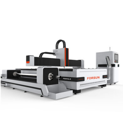 CNC Metal Fiber Laser Machine with rotary axis