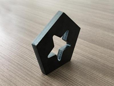 Fiber laser cutting metal display