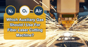 Which auxiliary gas should I use for fiber laser cutting machine