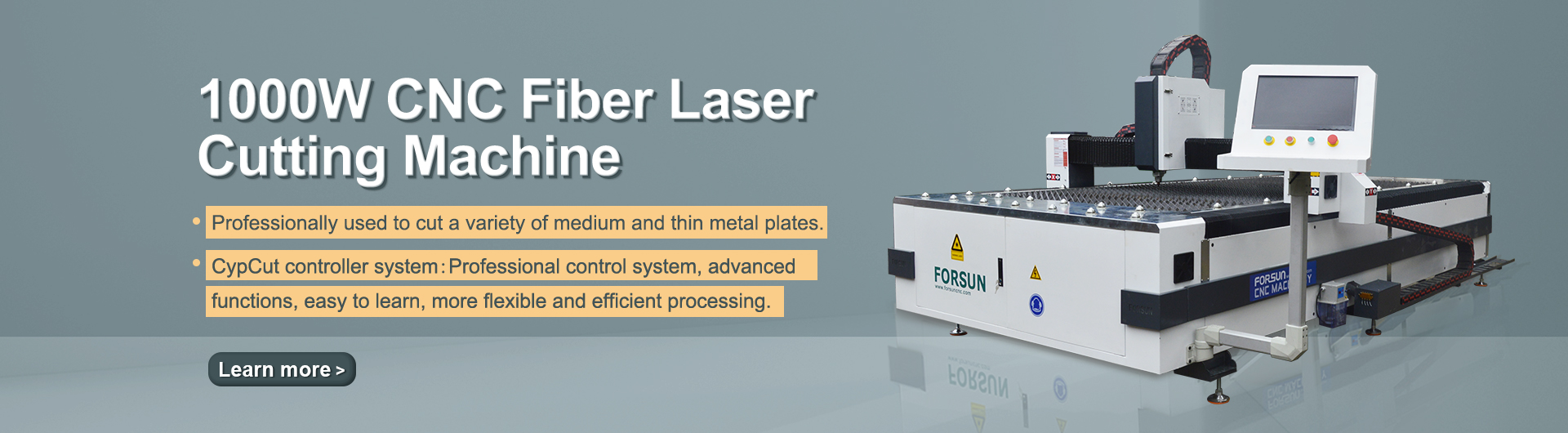 High Quality 1000W CNC Metal Sheet Plate Fiber Laser Cutting Machine